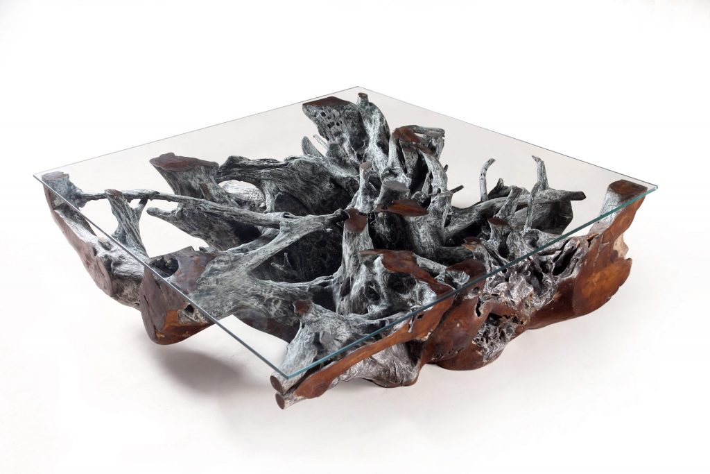 Graviola Grey Teak Root Coffee Table - Charlesworthy
